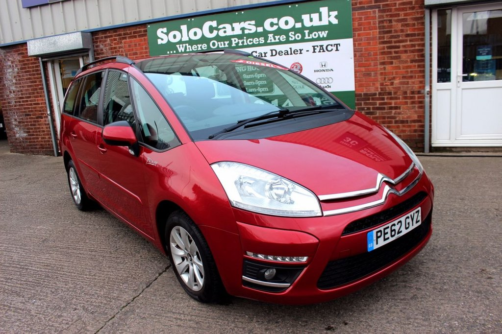 USED 2012 CITROEN C4 GRAND PICASSO 1.6 e-HDi Airdream Edition 5dr EGS6 +7 SEATER +DIESEL +SERVICED.
