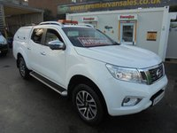 2016 NISSAN NP300 NAVARA 2.3 DCI TEKNA 4X4 DCB 190 BHP EURO 6  FULL BLACK LEATHER  ALLOYS, AIR CON, 360 DEGREE CAMERA TRUCKMAN TOP BOX SIDE STEPS ELECTRIC PACK FINANCE AVAILABLE