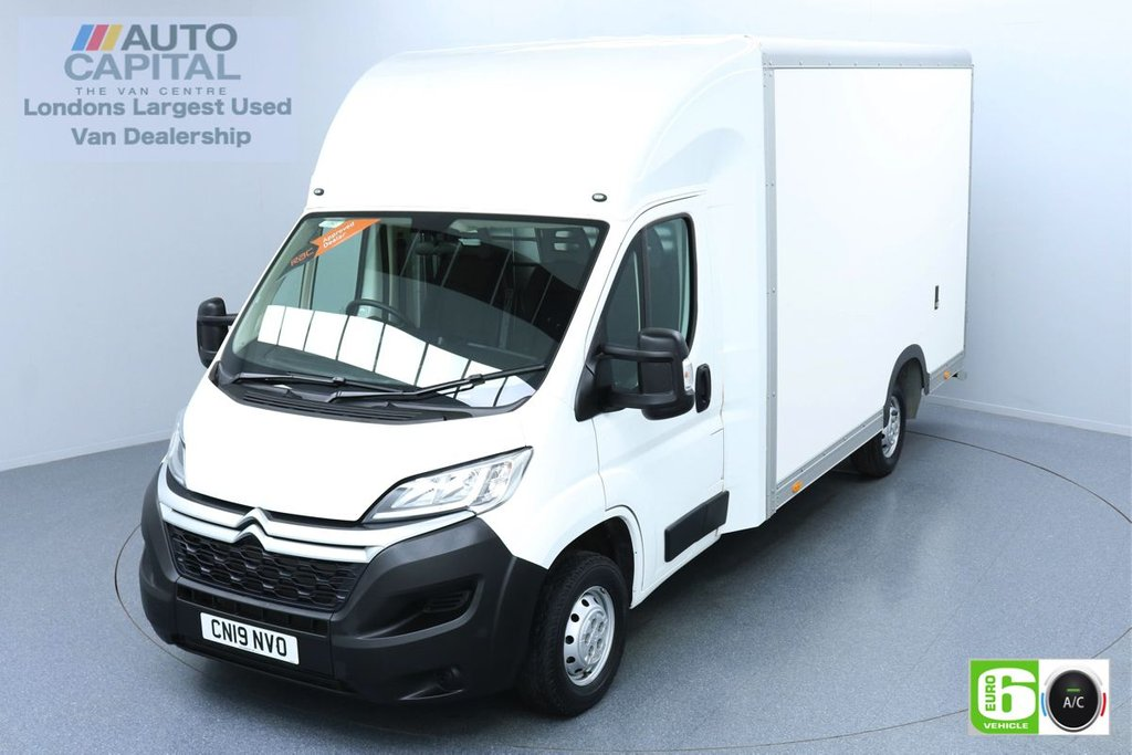 USED 2019 19 CITROEN RELAY 2.0 35 BLUEHDI 161 BHP LWB EURO 6 ENGINE LUTON LOW LOADER   AIR CON   HEATED FRONT SCREEN