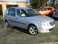 USED 2013 13 SKODA ROOMSTER 1.2 GREENLINE TDI CR 5d 74 BHP ONLY £20 TAX + RECENT CAMBELT