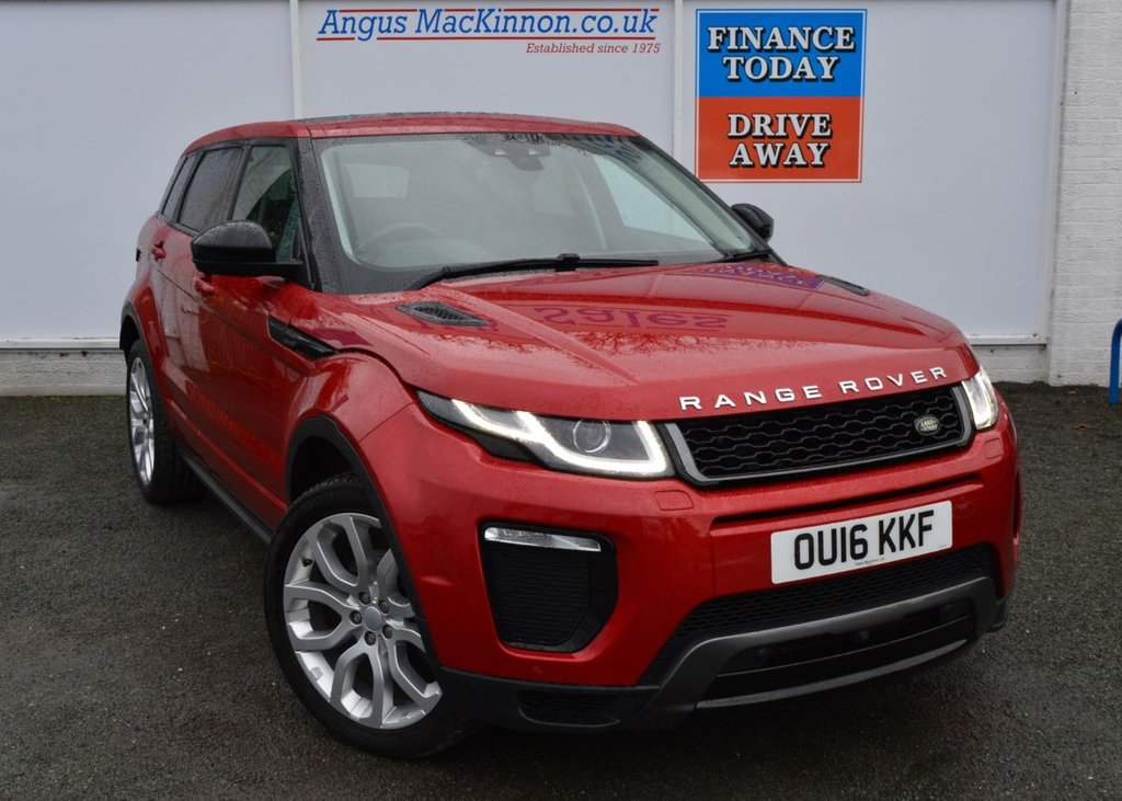 USED 2016 16 LAND ROVER RANGE ROVER EVOQUE 2.0 TD4 HSE DYNAMIC LUX 5d 4x4 Family SUV Stunning in Italian Racing Firenze Red with Black Pack Privacy Glass Panoramic Glass Roof Sat Nav Heated Electric Leather Seats Heated Steering Wheel Full Park Assist 360 Surround Camera System DAB Digital Radio with Land Rover Service History FULL SERVICE HISTORY AND ONE FORMER KEEPER