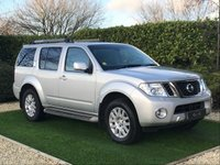 USED 2011 61 NISSAN PATHFINDER 2.5 TEKNA DCI 5d 188 BHP A PERFECT EXAMPLE OF THIS ROOMY SEVEN SEATER WITH THE DESIRABLE AUTO GEARBOX BRISTLING WITH FEATURES AND SUMPTUOUS HEATED BLACK LEATHER SEATS WITH ELECTRIC ADJUSTMENT ELECTRIC SUNROOF SAT NAV BLUTOOTH FUEL ECONOMY AND MAINTENANCE COMPUTER REVERSE CAMERA AND FRONT AND REAR PARKING SENSORS THIS CAR HAS BEEN PERFECTLY MAINTAINED BY NISSAN MAIN DEALERS BY ITS ONE OWNER AND IS THE CLEANEST EXAMPLE WE HAVE EVER SEEN AND DRIVES ABSOLUTELY SUPERB TOWBAR AND ELECTRICS FITTED AND LIFETIME WARRANTY OPTION