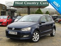 USED 2014 14 VOLKSWAGEN POLO 1.2 MATCH EDITION 5d 69 BHP Low Mileage Petrol Polo