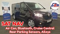 USED 2015 65 RENAULT TRAFIC 1.6 SL27 SPORT DCI 115 BHP in Metallic BLACK,  SAT NAV, Air Con, Alloys, Cruise Control, Bluetooth and much more.... ** Drive Away Today** Over The Phone Low Rate Finance Available, Just Call us on 01709 866668 **