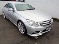 USED 2011 61 MERCEDES E-CLASS MERCEDESE BENZ  350 CDI BLUE EFF SPORT 2DR TIP AUTO Heated leather electric seats satellite navigation bluetooth cruise control climate control fully loaded