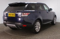USED 2013 63 LAND ROVER RANGE ROVER SPORT 3.0 SDV6 HSE 5DR AUTO 288 BHP + SAT NAV + LEATHER + PAN ROOF + PRIVACY  NEW SHAPE FULL LAND ROVER SERVICE HISTORY + FRONT/REAR HEATED LEATHER SEATS + 7 SEATS + PANORAMIC ROOF + SATELLITE NAVIGATION + REVERSE CAMERA + PARKING SENSOR + BLUETOOTH + CRUISE CONTROL + CLIMATE CONTROL + MULTI FUNCTION WHEEL + ELECTRIC/MEMORY FRONT SEATS + XENON HEADLIGHTS + ELECTRIC/HEATED DOOR MIRRORS WINDOWS + ELECTRIC MIRRORS + 20 INCH ALLOY WHEELS