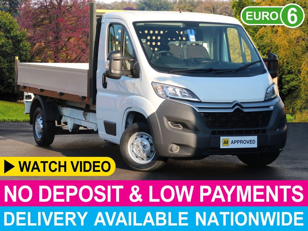 USED 2017 66 CITROEN RELAY 2.2 HDI ENTERPRISE DROPSIDE LWB 35 L3 130 3.5 TON AIR CON SAT NAV REV CAM CRUISE