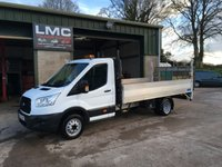 USED 2015 65 FORD TRANSIT 2.2 350 dropside with tail lift 124 BHP