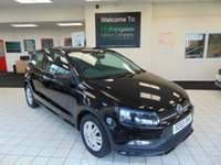 """USED 2016 65 VOLKSWAGEN POLO 1.0 S 3d 60 BHP FULL SERVICE HISTORY + JAN 2021 MOT + BLUETOOTH + DAB RADIO + DRIVERS SEAT HEIGHT ADJUSTMENT + 5"""" TOUCH SCREEN + HILL HOLD FUNCTION +ELECTRIC WINDOWS + LOW CAR TAX (£20)"""
