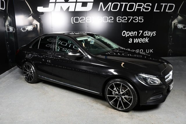 USED 2014 14 MERCEDES-BENZ C-CLASS LATE 2014 MERCEDES C220 CDI BLUETEC  SPORT NIGHT EDITION STYLE AUTO 170BHP (FINANCE AND WARRANTY)