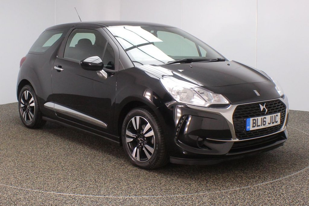 USED 2016 16 DS DS 3 1.6 BLUEHDI CHIC S/S 3DR 1 OWNER 98 BHP **NO ADMIN FEES**  FULL SERVICE HISTORY + FREE 12 MONTHS ROAD TAX + BLUETOOTH + CRUISE CONTROL + DAB RADIO + AIR CONDITIONING + ELECTRIC WINDOWS + ELECTRIC MIRRORS + 16 INCH ALLOY WHEELS