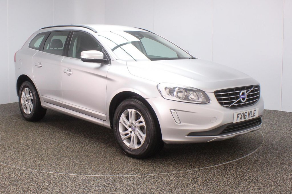 USED 2016 16 VOLVO XC60 2.0 D4 SE NAV 5DS AUTO 1 OWNER 188 BHP FULL SERVICE HISTORY + HEATED HALF LEATHER SEATS + SATELLITE NAVIGATION + REVERSE CAMERA + PARKING SENSOR + BLUETOOTH + CRUISE CONTROL + CLIMATE CONTROL + MULTI FUNCTION WHEEL + DAB RADIO + ELECTRIC WINDOWS + ELECTRIC MIRRORS + 17 INCH ALLOY WHEELS