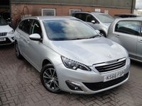 USED 2016 66 PEUGEOT 308 1.6 BLUE HDI S/S SW ALLURE 5d 120 BHP ANY PART EXCHANGE WELCOME, COUNTRY WIDE DELIVERY ARRANGED, HUGE SPEC