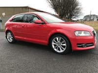 2011 AUDI A3 2.0 TDI 170 sport s tronic 53000 miles red  SOLD