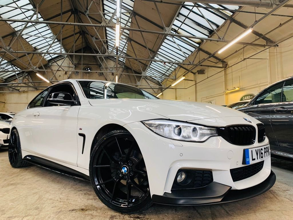 USED 2016 16 BMW 4 SERIES 2.0 420i M Sport (s/s) 2dr PERFORMANCEKIT+20S+HTDLTHR