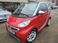 USED 2014 63 SMART FORTWO 1.0 PASSION MHD 2d 71 BHP