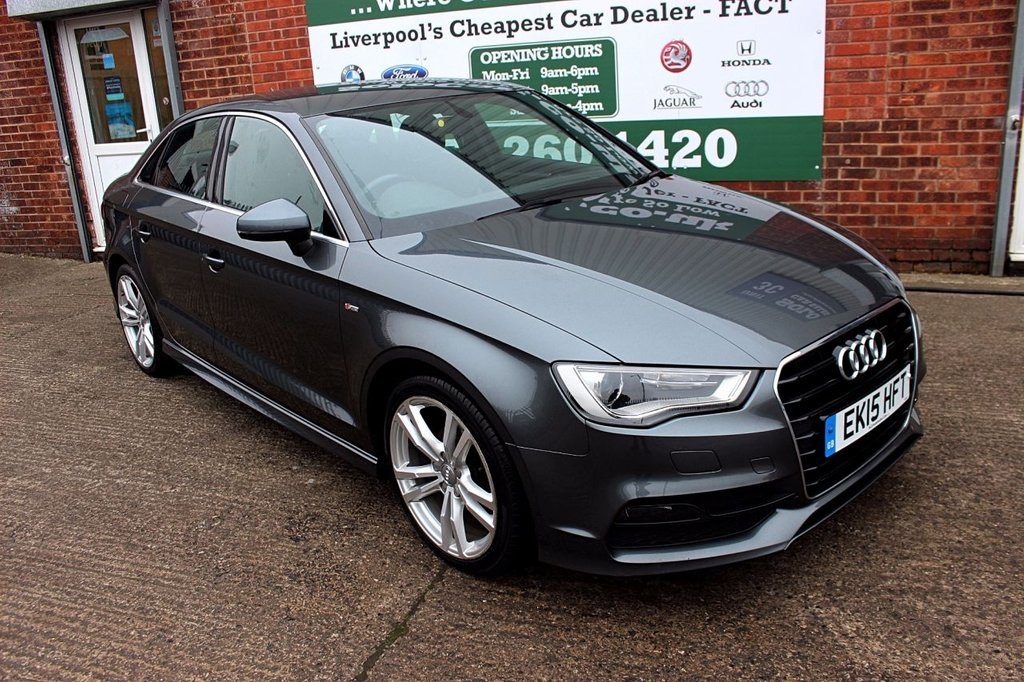 USED 2015 15 AUDI A3 1.6 TDI S LINE 4d 109 BHP +ONE OWNER +FREE TAX +SERVICED