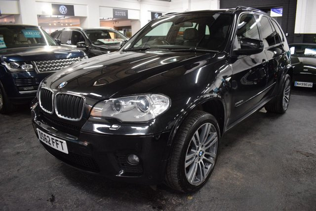USED 2012 62 BMW X5 3.0 XDRIVE30D M SPORT 5d 241 BHP 3.0D M SPORT XDRIVE - ONE PREVIOUS KEEPER - 5 STAMPS TO 102K - LEATHER - NAV - HEATED SEATS - REVERSE CAMERA - POWERBOOT