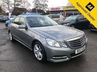 2012 MERCEDES-BENZ E CLASS 2.1 E220 CDI BLUEEFFICIENCY EXECUTIVE SE 4d 170 BHP IN METALLIC SILVER WITH 1 OWNER, FULL SERVICE HISTORY AND A GREAT SPEC. THIS IS A ULEZ COMPLIANT VEHICLE £7999.00