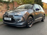 USED 2013 62 CITROEN DS3 1.6 DSTYLE PLUS 3d 120 BHP 3 OWNERS, FULL SERVICE HISTORY, MOT JAN 21, EXCELLENT CONDITION,  ALLOYS, AIR CON, CRUISE, BLUETOOTH, REAR SENSORS, RADIO CD, E/WINDOWS, R/LOCKING, FREE WARRANTY, FINANCE AVAILABLE, HPI CLEAR, PART EXCHANGE WELCOM