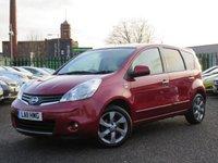 2011 NISSAN NOTE 1.4 N-TEC 5d 87 BHP £3640.00