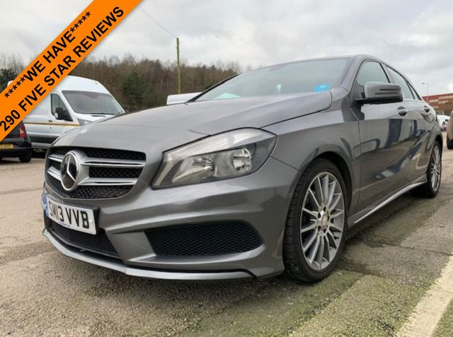 """USED 2013 13 MERCEDES-BENZ A CLASS 1.8 A180 CDI BLUEEFFICIENCY AMG SPORT 5d 109 BHP FULL SERVICE HISTORY - SATELLITE NAVIGATION - ONLY £30 ROAD TAX A YEAR - MOT JUNE 2020 - AMG BODYKIT STYLING - 18"""" AMG WHEELS - 2 KEYS - 3 MONTH WARRANTY"""