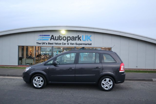 USED 2014 14 VAUXHALL ZAFIRA 1.8 EXCLUSIV 5d 120 BHP LOW DEPOSIT OR NO DEPOSIT FINANCE AVAILABLE