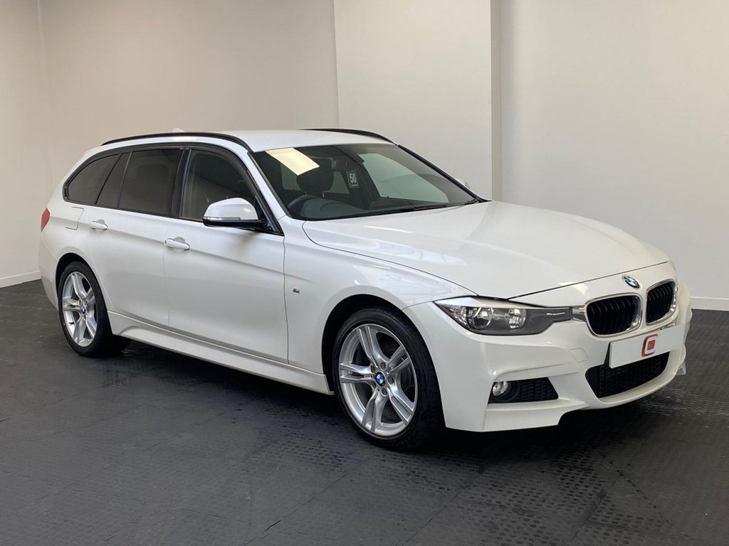 USED 2013 63 BMW 3 SERIES 2.0 320D XDRIVE M SPORT TOURING 5d 181 BHP LOW MILES + FULL HISTORY + LEATHER + SAT NAV + ONLY 2 OWNERS