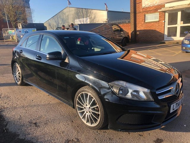 USED 2014 14 MERCEDES-BENZ A CLASS 1.8 A200 CDI BLUEEFFICIENCY AMG SPORT 5d 136 BHP EXCELLENT EXAMPLE WITH SERVICE HISTORY, ALLOY WHEELS, LEATHER INTERIOR, RADIO/CD/AUX/USB, CRUISE CONTROL, AIR CONDITIONING