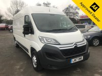 USED 2017 17 CITROEN RELAY 2.0 35 L3H2 ENTERPRISE BLUEHDI 129 BHP LONG WHEEL BASE AND HIGH TOP MODEL WITH 106200 MILES, FULL SERVICE HISTORY AND A GREAT SPEC INCLUDING SAT NAV AND DAB. THIS IS A ULEZ COMPLIANT VEHICLE (NO VAT) Approved Cars are pleased to offer this 2017 Citroen Relay 2.0 35 L3H2 Enterprise BlueHDI with 106200 miles. This ideal work van comes has been extremely well looked after and maintained and comes with a full service history. The 2.0L HDI engine is very economical and conforms to Londons ULEZ regulations so this van can be used for work inside London. The long wheel base and high top roof give the van even larger cargo area with multiple tie down points. This van comes well equipped with a manua