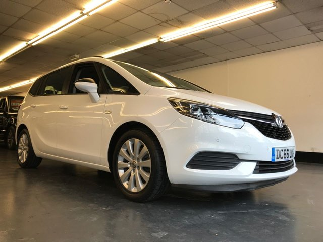USED 2016 66 VAUXHALL ZAFIRA TOURER 1.4 DESIGN 5d 138 BHP 1 OWNER FROM NEW WITH FULL SERVICE HISTORY, 7 SEATER, FRONT AND REAR PARKING SENSORS