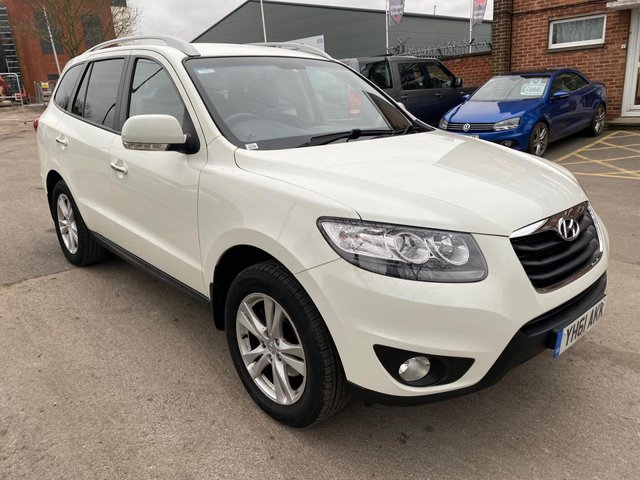 USED 2011 61 HYUNDAI SANTA FE 2.2 PREMIUM CRDI 5d 194 BHP 7 SEATER EXCELLENT EXAMPLE WITH SERVICE HISTORY, ALLOY WHEELS, PARK SENSORS, HEATED LEATHER SEATS, RADIO/CD/AUX/USB, CRUISE CONTROL, CLIMATE CONTROL