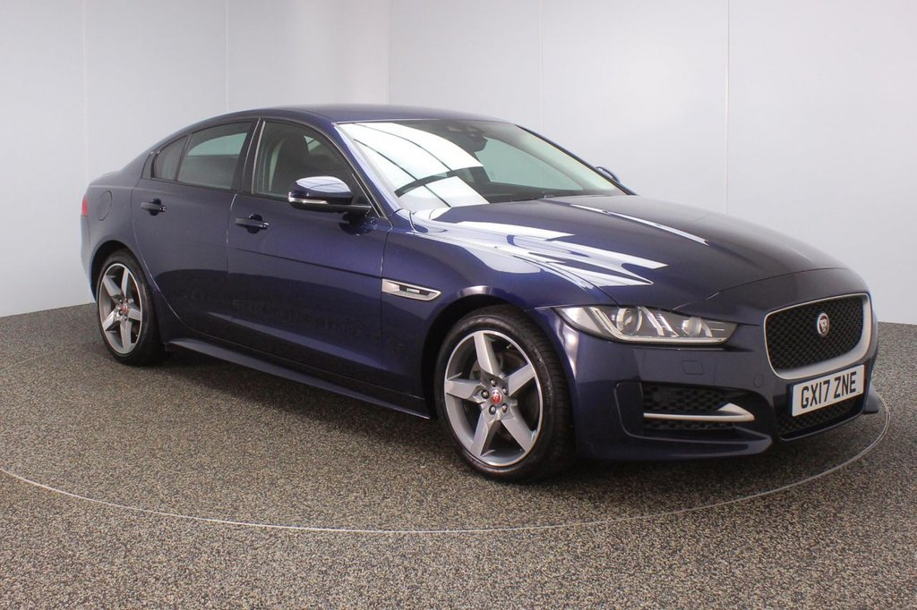 USED 2017 17 JAGUAR XE 2.0 R-SPORT 4DR AUTO 1 OWNER 178 BHP FULL SERVICE HISTORY + £30 12 MONTHS ROAD TAX + HEATED LEATHER SEATS + SATELLITE NAVIGATION + PARKING SENSOR + BLUETOOTH + CRUISE CONTROL + CLIMATE CONTROL + MULTI FUNCTION WHEEL + LANE ASSIST SYSTEM + XENON HEADLIGHTS + DAB RADIO + ELECTRIC WINDOWS + ELECTRIC MIRRORS + 18 INCH ALLOY WHEELS