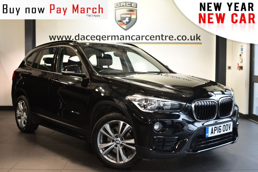 """USED 2016 16 BMW X1 2.0 SDRIVE18D SPORT 5DR 148 BHP full service history  Finished in a stunning black styled with 18"""" alloys. Upon entry you are presented with full black leather interior, full service history, satellite navigation, bluetooth, cruise control, parking sensors, sport seats, light package, Interior/outside mirror with auto dip, dab radio, park assist, sport line, Multifunction steering wheel, automatic boot lid, Automatic air conditioning, rain sensors, Connected Drive Services"""