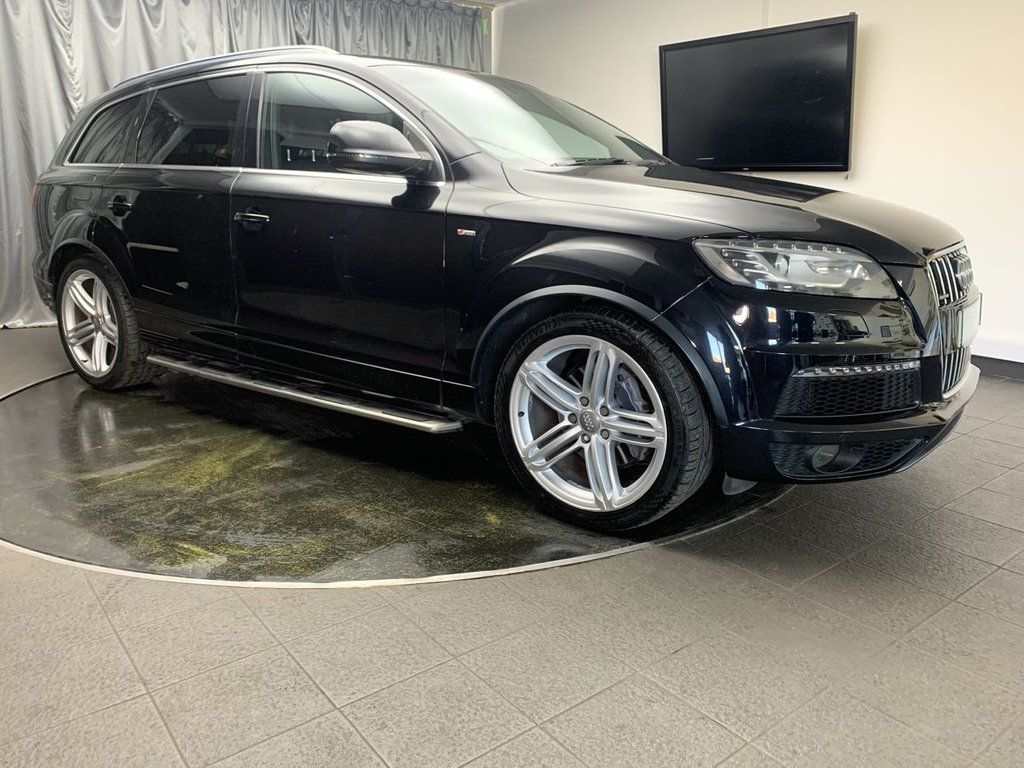 USED 2012 12 AUDI Q7 3.0 TDI QUATTRO S LINE PLUS S/S 5d 204 BHP FREE UK DELIVERY, ADJUSTABLE AIR SUSPENSION, AIR CONDITIONING, AUTOMATIC HEADLIGHTS, CLIMATE CONTROL, CRUISE CONTROL, GEARSHIFT PADDLES, HEATED SEATS, PARKING SENSORS, REVERSE CAMERA, SATELLITE NAVIGATION, START/STOP SYSTEM, STEERING WHEEL CONTROLS TRIP COMPUTER