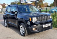 USED 2016 16 JEEP RENEGADE 2.0 M-JET LONGITUDE 5d 138 BHP SAT NAV, MEDIA SCREEN WITH BLUETOOTH AUX AND USB MEDIA CONNECTION, HEATED SEATS, VOICE COMMAND FUNCTION ON STEERING WHEEL, AUTO STOP/START