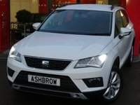 USED 2018 67 SEAT ATECA 1.0 TSI ECOMOTIVE SE 5d 115 S/S 1 OWNER, FULL SERVICE HISTORY, BALANCE OF SEAT WARRANTY, LED DAYTIME RUNNING LIGHTS, SPEED LIMITER, REAR PARKING SENSORS WITH DISPLAY, 17 INCH 10 SPOKE ALLOY WHEELS, FRONT ASSIST, FULL LINK FOR APPLE CARPLAY & ANDROID AUTO (GIVES YOU SAT NAV), BLUETOOTH PHONE & MUSIC STREAMING, CD HIFI WITH SD CARD READER, AUX INPUT, 2x USB PORTS, VOICE DIALOGUE SYSTEM, MANUAL 6 SPEED,  GREY CLOTH INTERIOR, ELECTRIC HEATED FOLDING MIRRORS, LEATHER MULTIFUNCTION STEERING WHEEL, DUAL CLIMATE AIR CON, AUTO HOLD