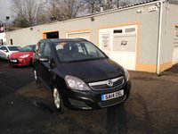 USED 2014 14 VAUXHALL ZAFIRA 1.8 EXCLUSIV 5d 120 BHP 7 Seater, Air Con, Parking Sensors, Electric Windows