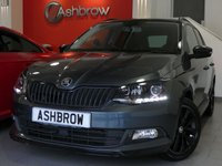USED 2017 66 SKODA FABIA ESTATE 1.2 TSI MONTE CARLO 5d 110 S/S PANORAMIC GLASS ROOF, SMART LINK FOR APPLE CARPLAY / ANDROID AUTO (GIVES YOU SAT NAV), DAB RADIO, BLUETOOTH PHONE & MUSIC STREAMING, REAR PARKING SENORS WITH DISPLAY (PARK PILOT), FRONT ASSIST AMBIENT TRAFFIC MONITORING SYSTEM, SPEED LIMITER, MANUAL 6 SPEED, LED DAYTIME RUNNING LIGHTS, FRONT FOG LIGHTS, ROOF RAILS, 16 INCH ALLOY WHEELS, CLOTH INTERIOR, SPORT SEATS, ALUMINIUM PEDALS, LEATHER FLAT BOTTOM MULTIFUNCTION STEERING WHEEL, AUX & USB, AIR CON, SD CARD READER, SPACE SAVER, SERVICE HISTORY