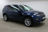 USED 2017 17 LAND ROVER DISCOVERY SPORT 2.0 TD4 HSE 5d AUTO 180 BHP Finished in stunning metallic Portofino Blue, 19 inch alloys + full almond leather + Heated electric seats with lumbar support + Sat nav + Bluetooth + DAB Radio + Full service History + In car entertainment - AUX / USB + Start / stop + Dual climate control + Multi function steering wheel + Cruise control + Electric folding mirrors + Electric windows + 360 camera + Meridian Audio + Pan roof + Electric powered boot + Front / Rear sensors + Auto lights / wipers + Voice control + ULEZ EXEMPT