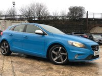 USED 2014 14 VOLVO V40 1.6 D2 R-DESIGN 5d 113 BHP CLIMATE+0ROADTAX+HALFLEATHER+ALLOYS+HEATED+1FORM KEEP+CLEANCAR+
