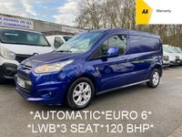 USED 2017 67 FORD TRANSIT CONNECT *AUTOMATIC* EURO 6 * LWB 1.5 240 LIMITED 118 BHP*FORD WARRANTY*
