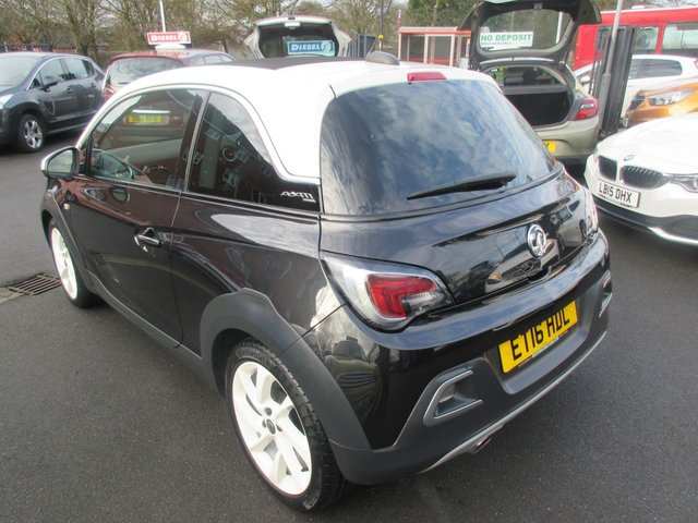 USED 2016 16 VAUXHALL ADAM 1.2 ROCKS UNLIMITED 3d 69 BHP CALL 01543 379066... 12 MONTHS MOT... 6 MONTHS WARRANTY... CONVERTIBLE OPENING ROOF... JUST ARRIVED