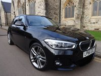 USED 2017 66 BMW 1 SERIES 2.0 118D M SPORT 5d 147 BHP +AUTOMATIC + SATELLITE NAVIGATION +