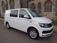 USED 2016 66 VOLKSWAGEN TRANSPORTER 2.0 T30 TDI KOMBI HIGHLINE BMT 148 BHP + AUTOMATIC + FIVE SEATS + SUPERB +