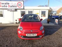 USED 2016 66 FIAT 500 1.2 LOUNGE 69 BHP GOOD AND BAD CREDIT SPECIALISTS! APPLY TODAY!