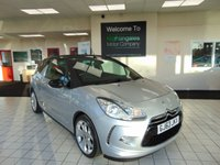 """USED 2013 63 CITROEN DS3 1.6 E-HDI AIRDREAM DSTYLE 3d 90 BHP FULL SERVICE HISTORY + JAN 2021 MOT + LOW MILES + RADIO/CD/MP3 + ZERO ROAD TAX + AIR CONDITIONING + 17"""" ALLOYS + REMOTE CENTRAL LOCKING + ELECTRIC WINDOWS + FANTASTIC MPG"""