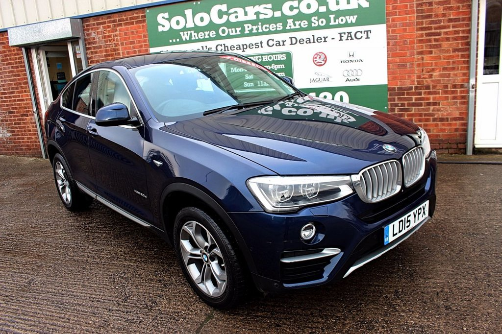 USED 2015 15 BMW X4 2.0 XDRIVE20D XLINE 4d AUTO 188 BHP +ONE OWNER +FSH +NAV +LEATHER.