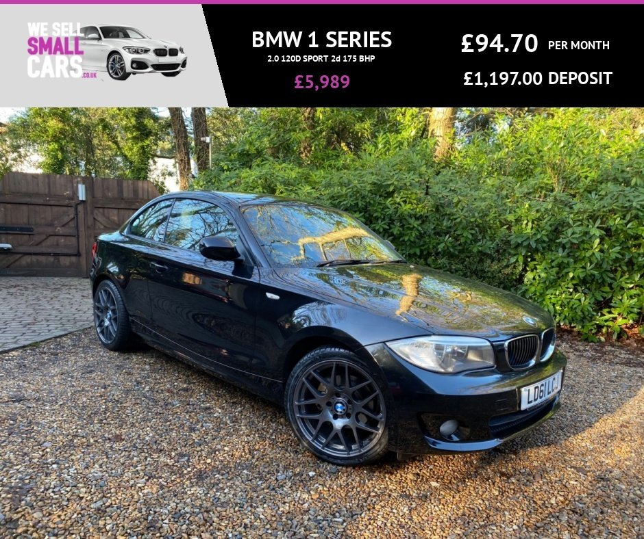 USED 2011 61 BMW 1 SERIES 2.0 120D SPORT 2d 175 BHP 3 OWNERS FULL SERVICE HISTORY 18 INCH ALLOYS M1 LOOKS AIR CON