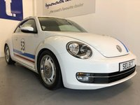 USED 2012 62 VOLKSWAGEN BEETLE 1.4TSi Design 160 bhp 3Dr Gorgeous Herbie with retro white wheels/chrome hub caps,rear spoiler,blue tooth,6 Speed,-Full Service History with 160BHP and 61,371 miles from new -amazing to drive even more fab to look at -must be viewed in the flesh !!!